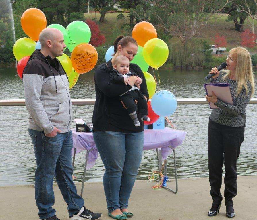 Balloon release ceremonies sydney marriage celebrant for Balloon decoration for naming ceremony