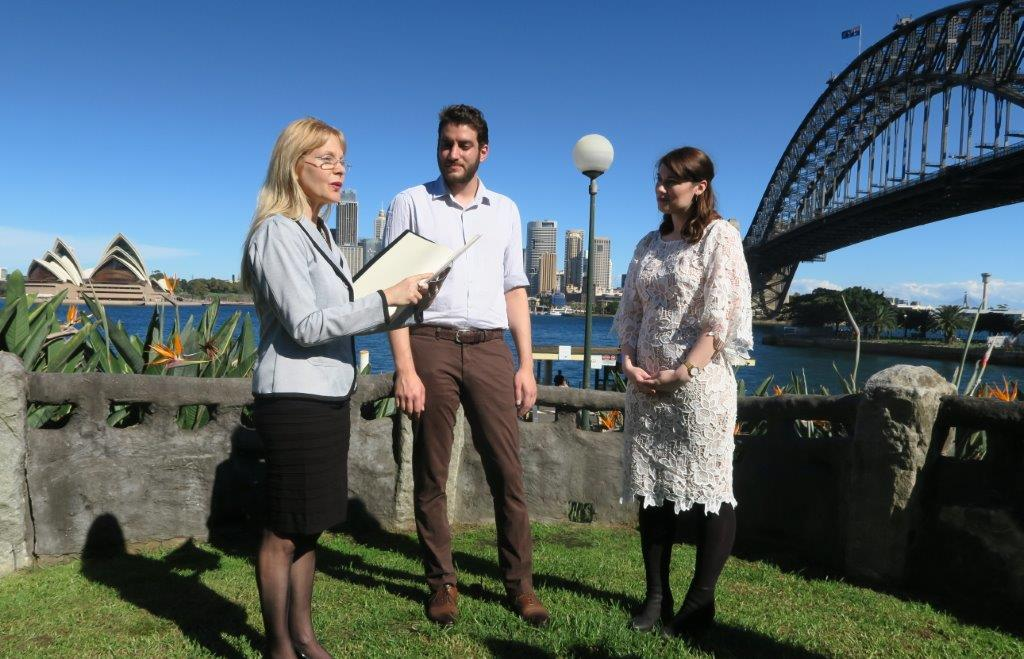 celebrant at Captain Henry Waterhouse Reserve in Kirribilli