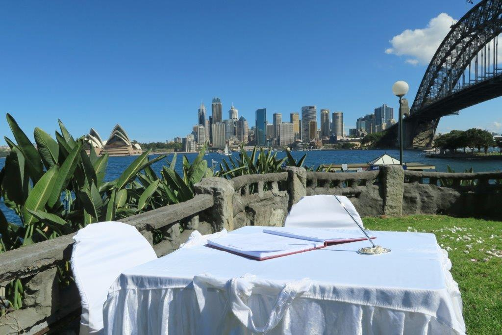 copes lookout, kirribilli for weddings