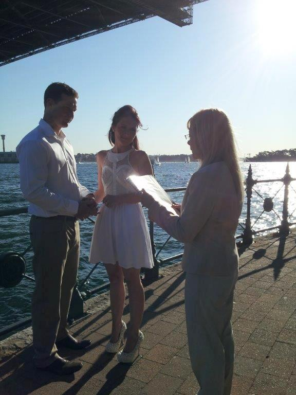 getting married under the Sydney bridge