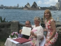 wedding ceremony at Copes lookout Kirribilli