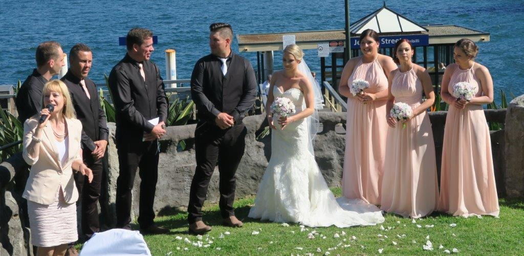 wedding at copes lookout, kirribilli