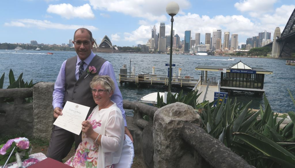wedding in North Sydney