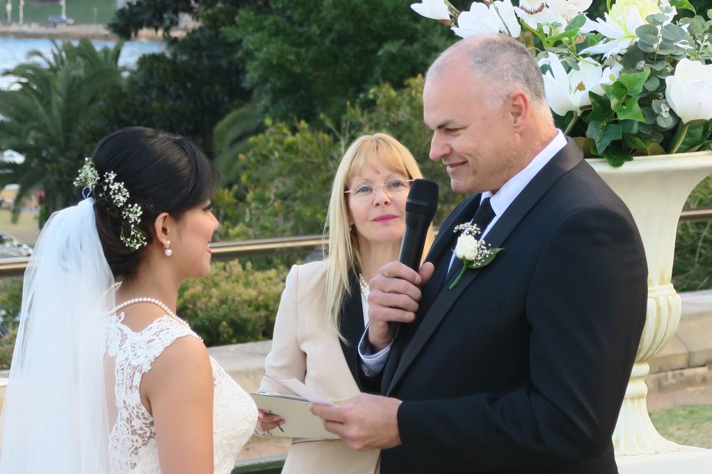 wedding vows with Sydney celebrant