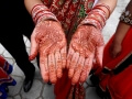 Mehndi hand decorations for a wedding
