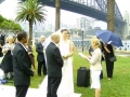 Wedding ceremony Hickson reserve park, Sydney