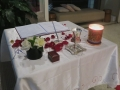 Marriage registry signing table