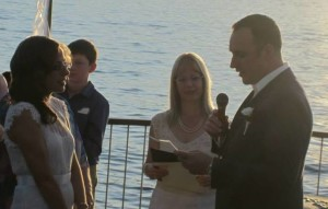 Wedding ceremony at Lucnida Park, Palm Beach