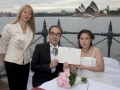 Sydney Marriage celebrant under the bridge and opera house