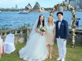 Tourists getting married  in Australia