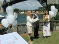 wedding ceremony at copes lookout
