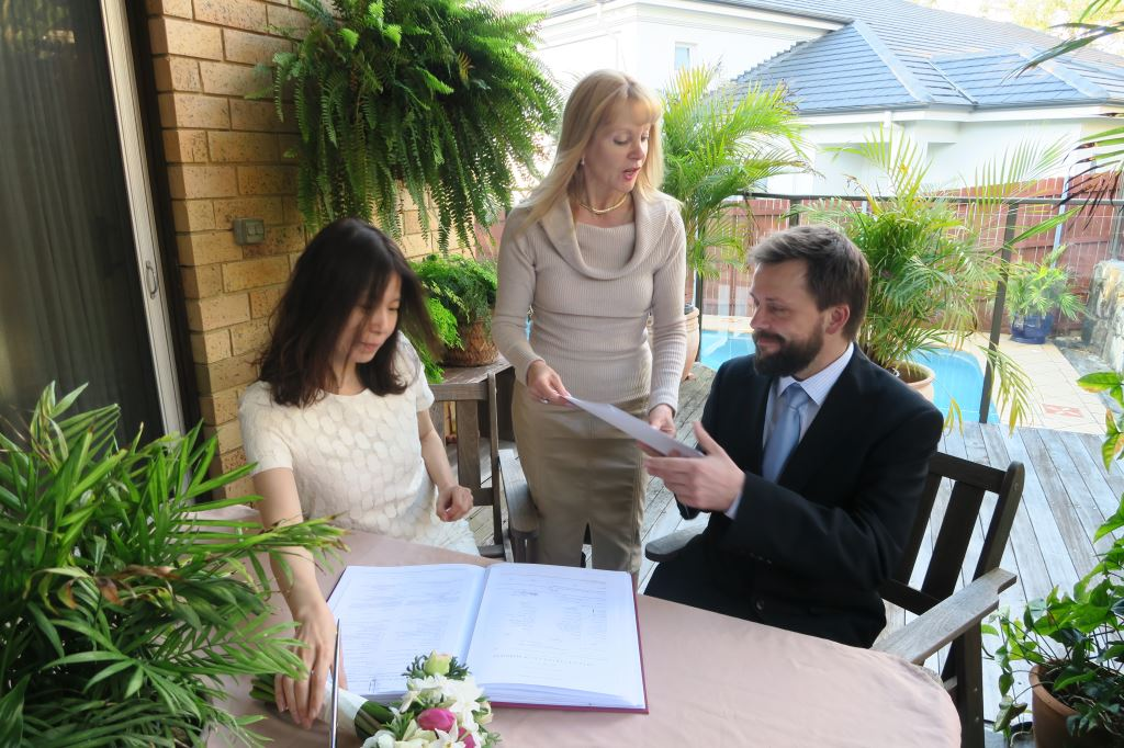 cheap garden wedding ceremony