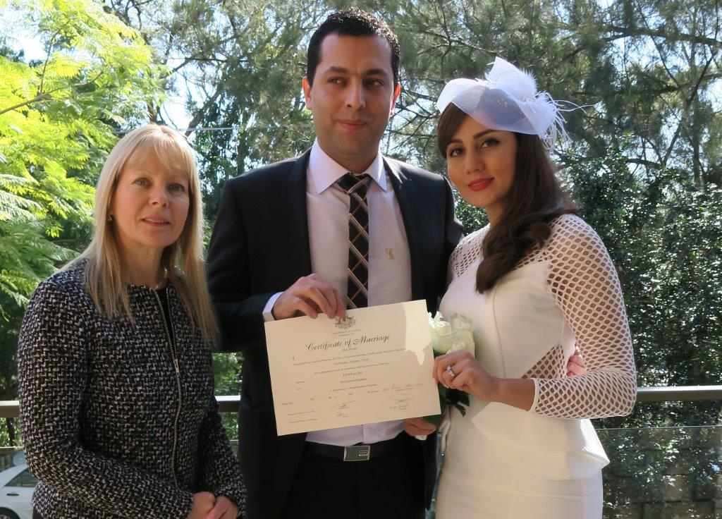 Sydney afordable marriage celebrant at home wedding