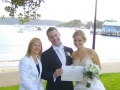 Marriage celebrant at Watsons Bay wedding