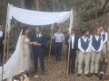 Forest Jewish wedding