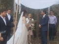 Jewish chuppah in the woods