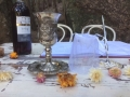 Kiddush cup at a wedding
