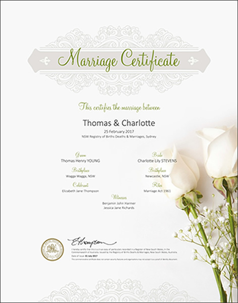 Marriage Floral White