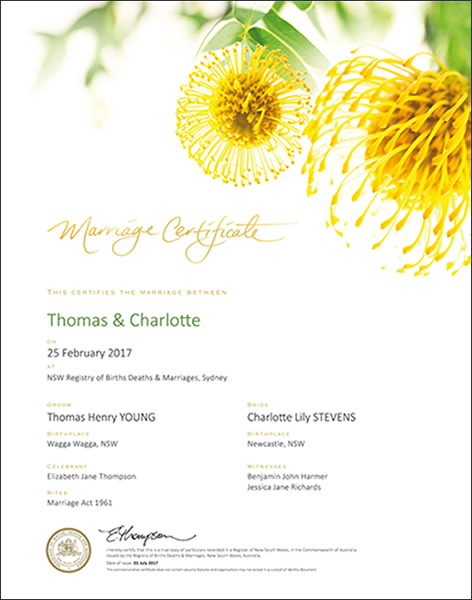 Marriage Floral Yellow