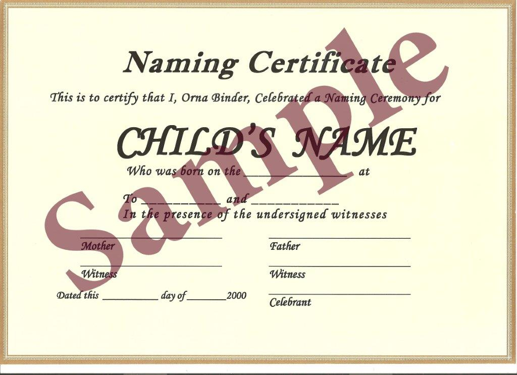 Beautiful naming ceremonies certificates sydney naming celebrant naming certificate yadclub Image collections