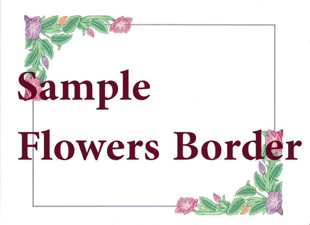 Beautiful naming ceremonies certificates sydney naming celebrant naming certificate flowers border m4hsunfo