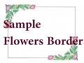 naming certificate flowers border