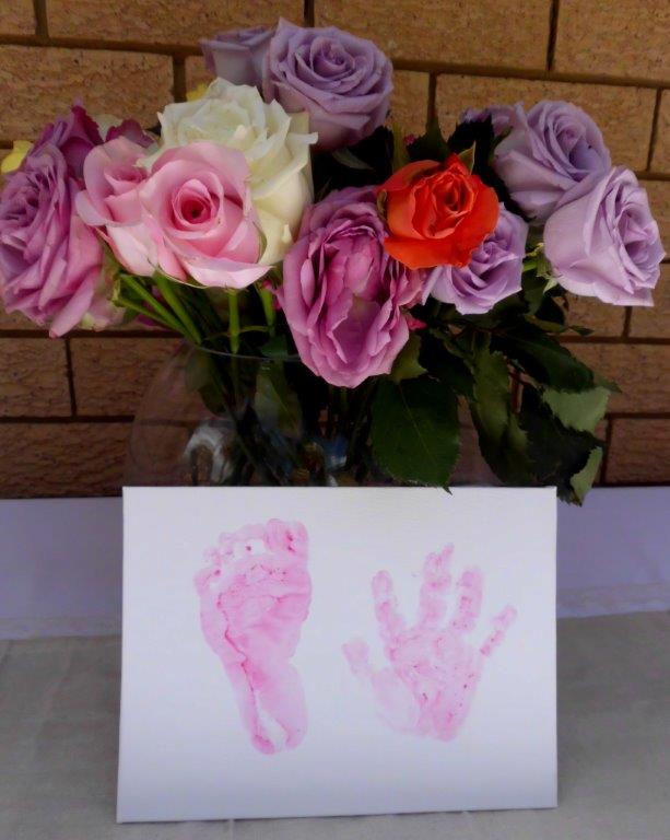 Hands prints for naming ceremony