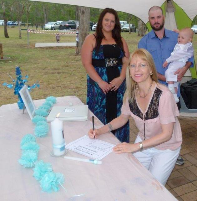 Naming day celebrant at Nurragingy Reserve, Knox Rd, Doonside, NSW