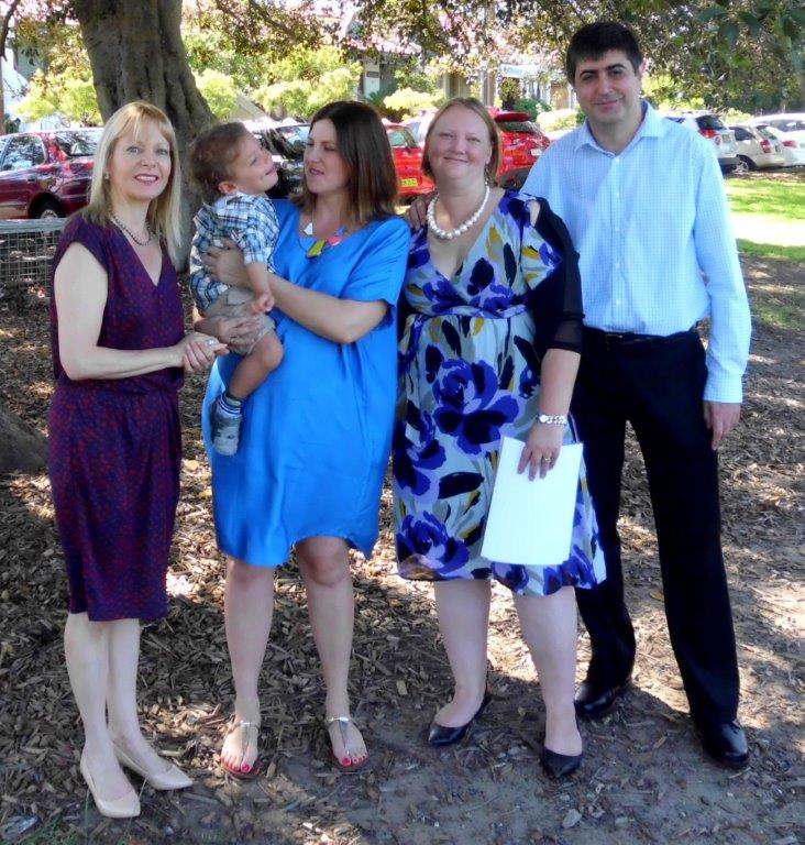marriage celebrant Enmore Park ,naming day, Marrickville