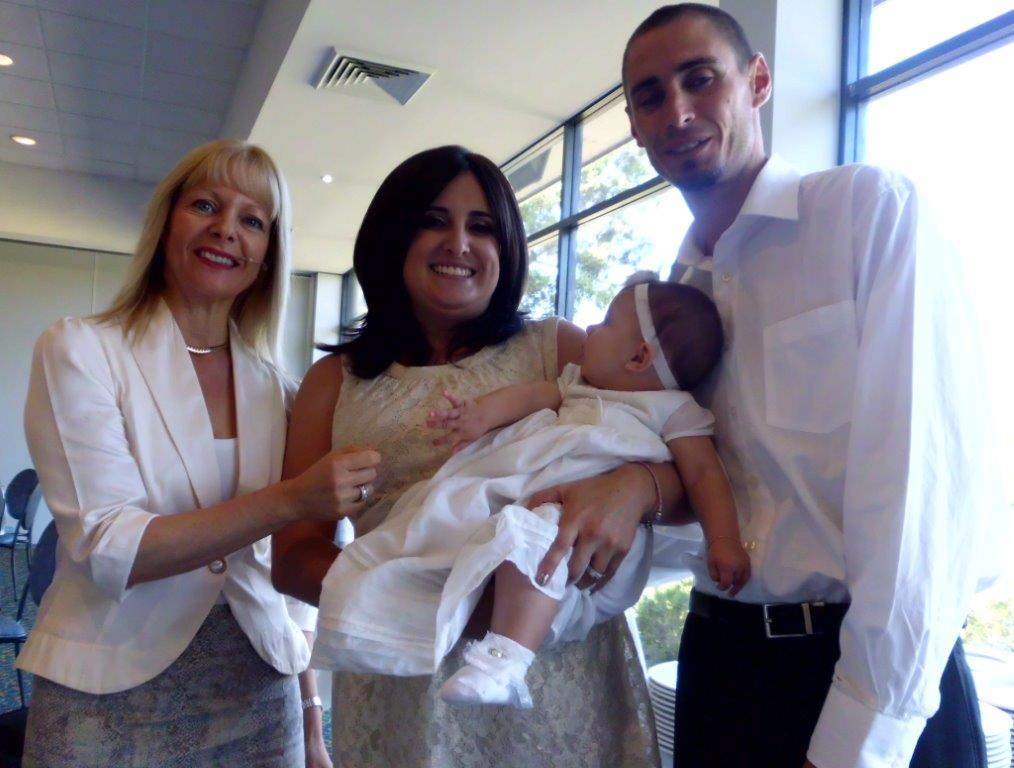 naming day ceremony celebrant in Lidcombe