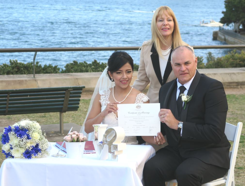 wedding ceremony in Sydney