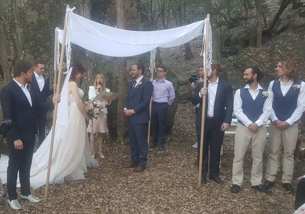 Forest wedding NSW, Sydney Marriage Celebrant