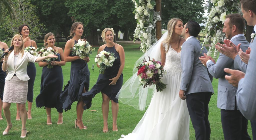 garden wedding ceremony, Sydney Marriage Celebrant