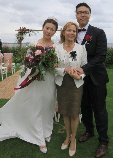 Long reef gold club wedding celebrant