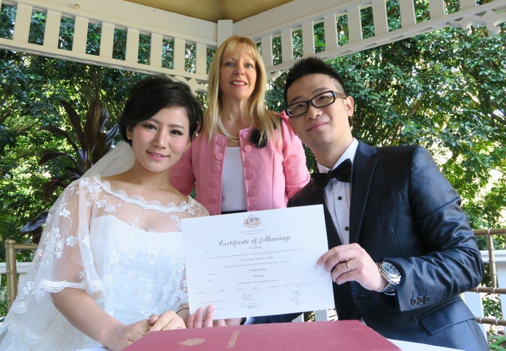 Marriage celebrant Curzon Hall Marsfield