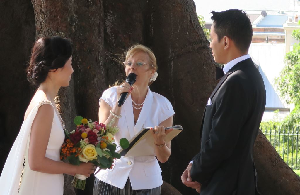 Observatory Hill wedding, Sydney Marriage Celebrant