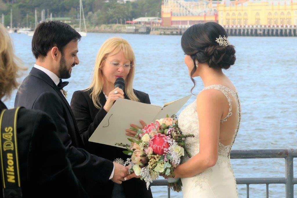 Pier One wedding celebrant