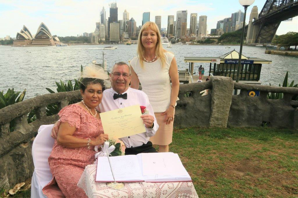 Sydney celebrant Harbour wedding