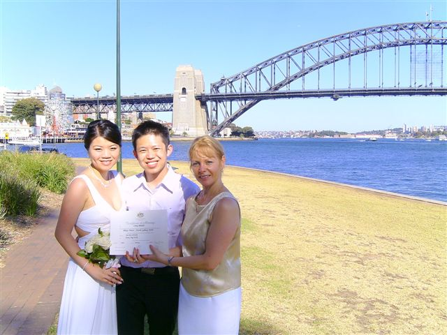 Wedding ceremony celebrant , Blue Point road