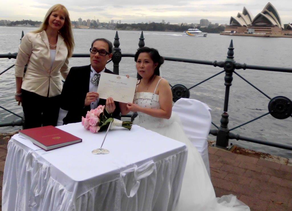 Sydney marriage celebrant for weddings