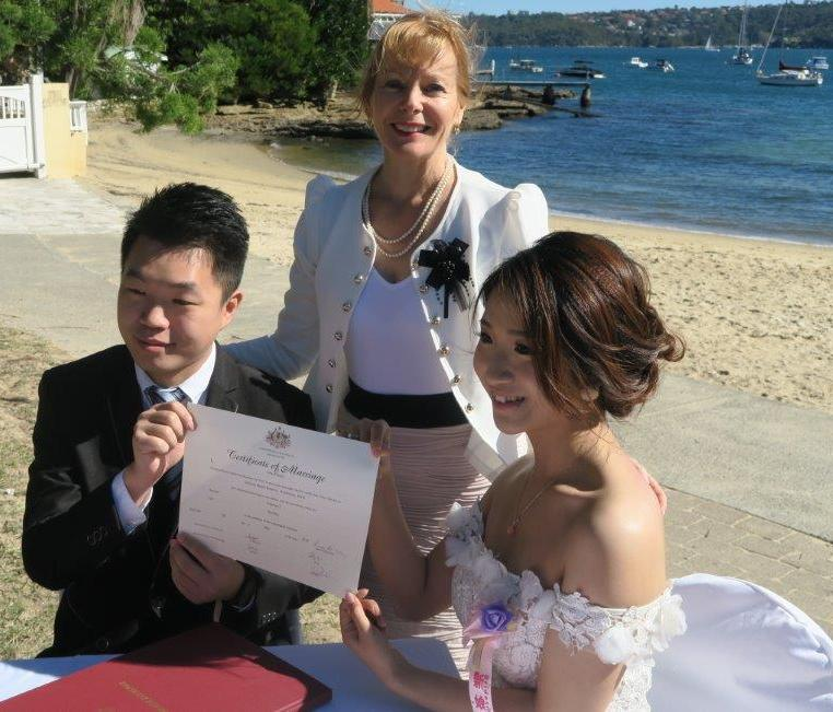 Wedding celebrant Gisons Beach Reserve