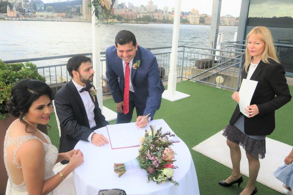 Wedding on Pier One Walsh Bay