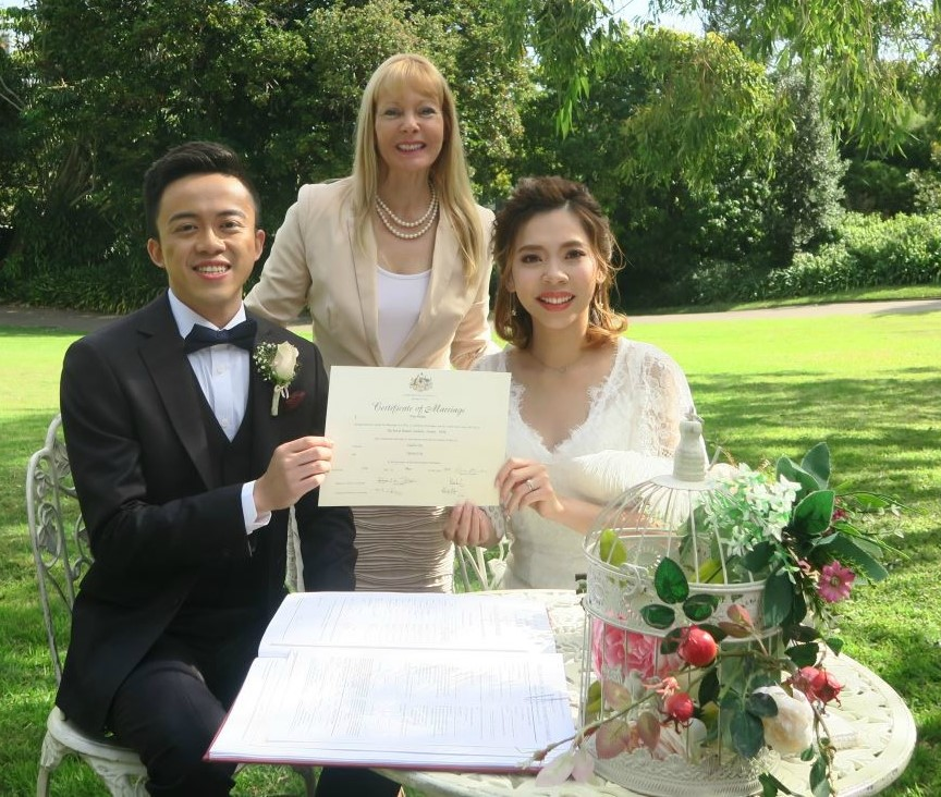 botanical gardens wedding Sydney, Sydney Marriage Celebrant