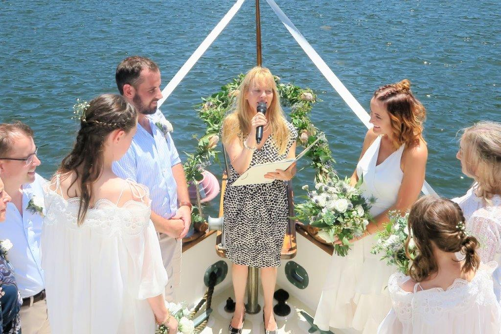 celebrant for boat wedding ceremony