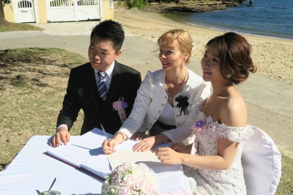 marriage celebrant Gibsons beach reserve
