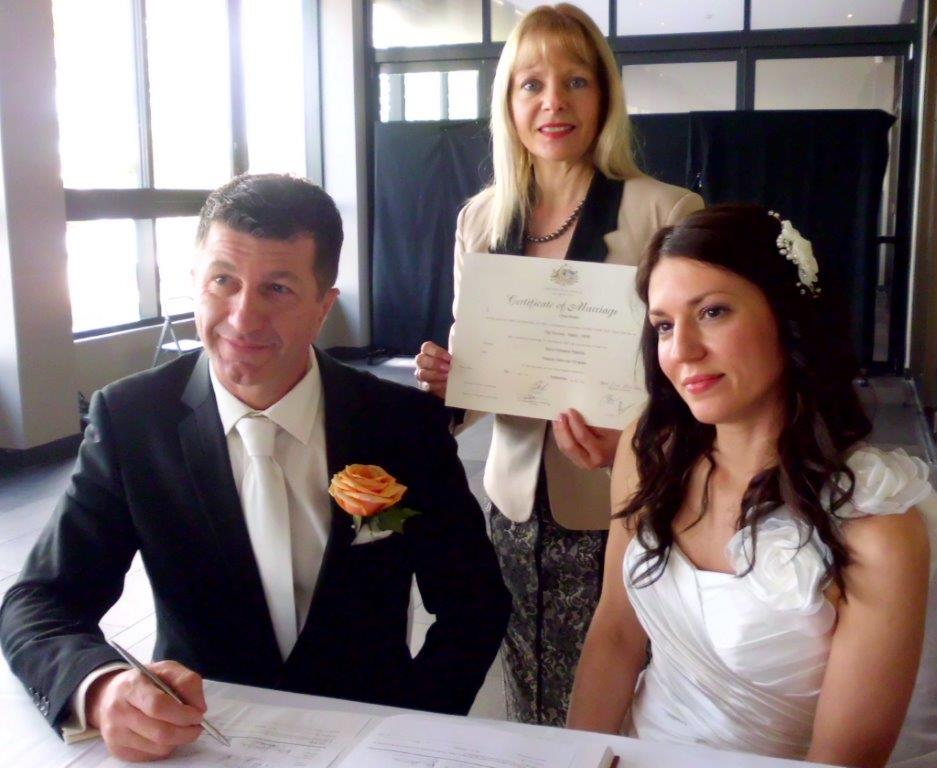 marriage celebrant Novotel Manly