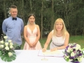 Sydney marraige celebrant at the park wedding