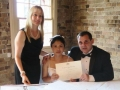 Waterfront restaurant wedding ceremony