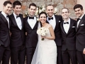 bride & Groom with all groomsmen