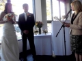 wedding ceremony at Novotel Manly